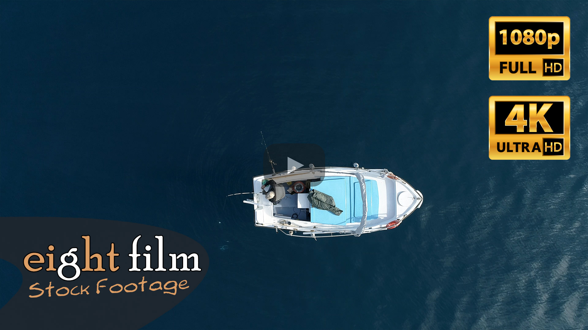 Aerial Footage. Fisherman catching a fish