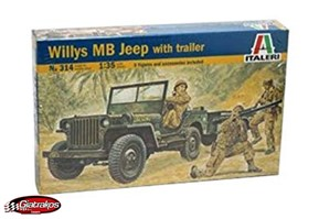 Willys MB JEEP with trailer (314)