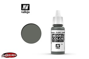 Acrylic Color Gunmetal Grey - Vallejo (70863)