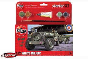 Willys MB Jeep 1:72 Starter Set (55117)