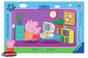 Peppa Pig at the Computer, Παζλ Πέππα (061235)