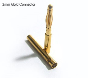 Gold Connectors 2mm