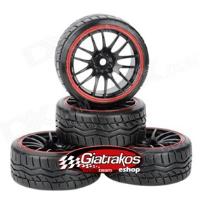 Drift Tires Black/Red