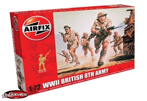 WWII British 8th Army 1:72 (00709)