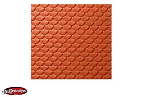 Noch Scalloped Tile, Red (55235)