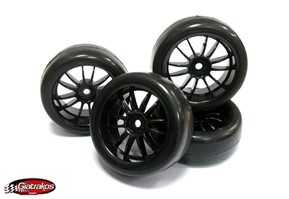 Slick Tyres & black wheels (4)