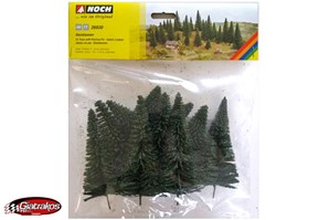Noch Fir Trees with Planting Pin 10pcs