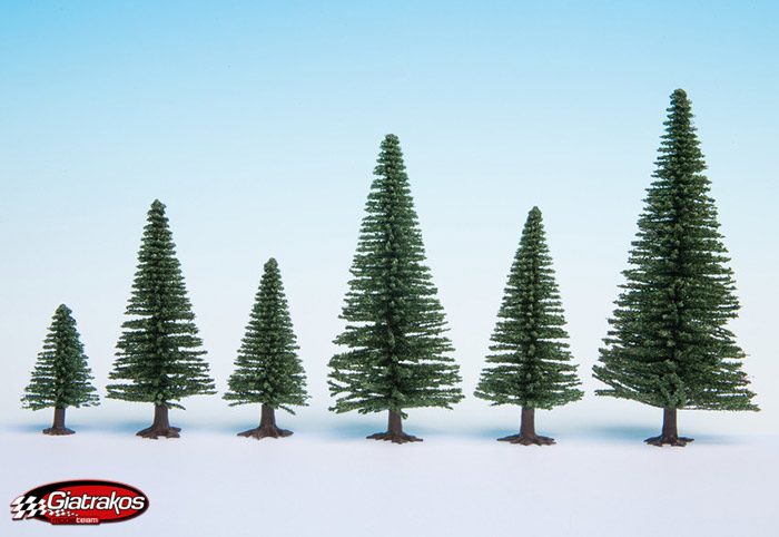 Model Fir Trees 10 pieces 5-14 cm (26920)